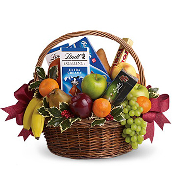 Fruits and Sweets Christmas Basket from Backstreet Florist in Harrisburg, AR and Wynne, AR