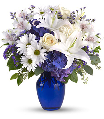 Beautiful in Blue from Backstreet Florist in Harrisburg, AR and Wynne, AR