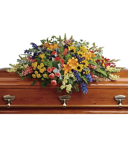 Colorful Reflections Casket Spray from Backstreet Florist in Harrisburg, AR and Wynne, AR