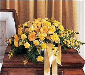 Brighter Blessings Casket Spray from Backstreet Florist in Harrisburg, AR and Wynne, AR