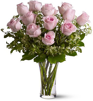 A Dozen Pink Roses from Backstreet Florist in Harrisburg, AR and Wynne, AR